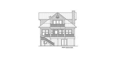Narrow Lot Beach House Plan - 15035NC thumb - 04