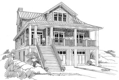 Narrow lot beach house plan 15035nc architectural for Beach home plans with elevators