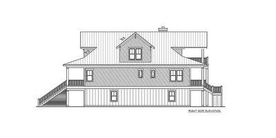 Narrow Lot Beach House Plan - 15035NC thumb - 06