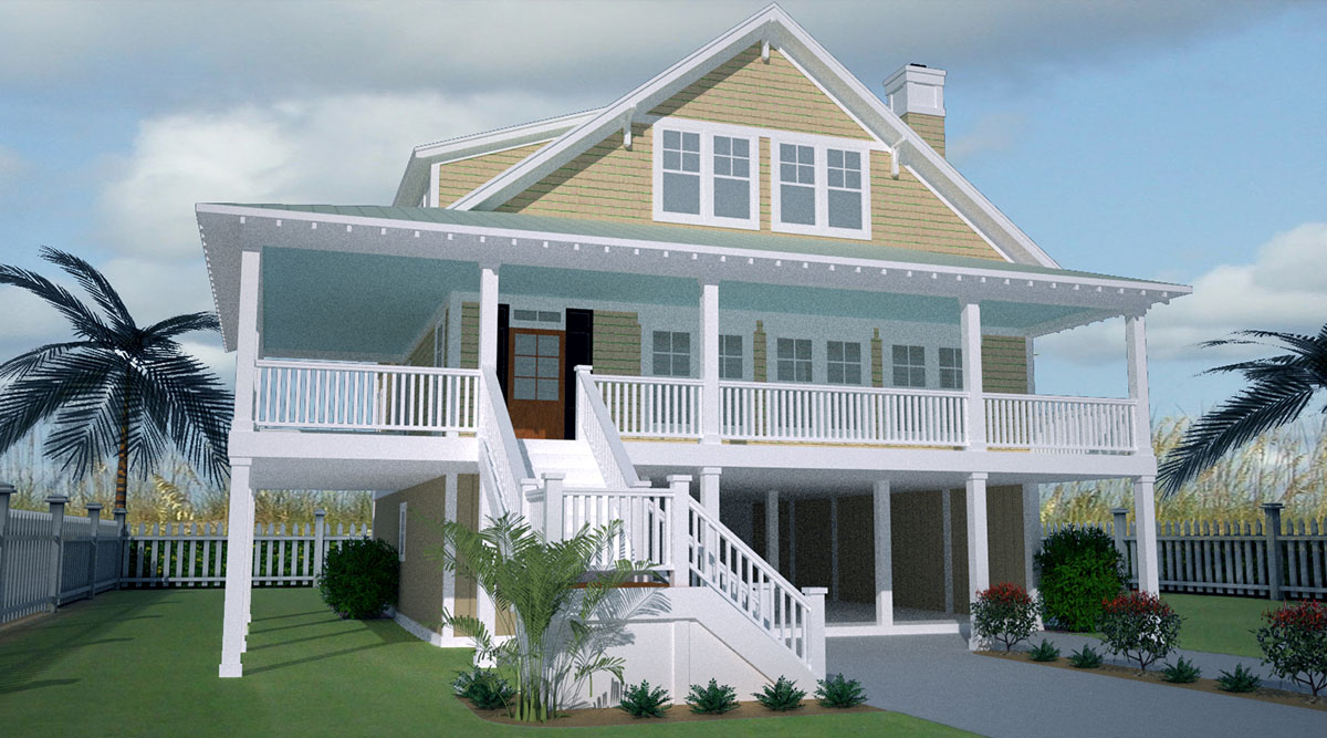 Low country home with wraparound porch 15056nc for Low country house plans with porches
