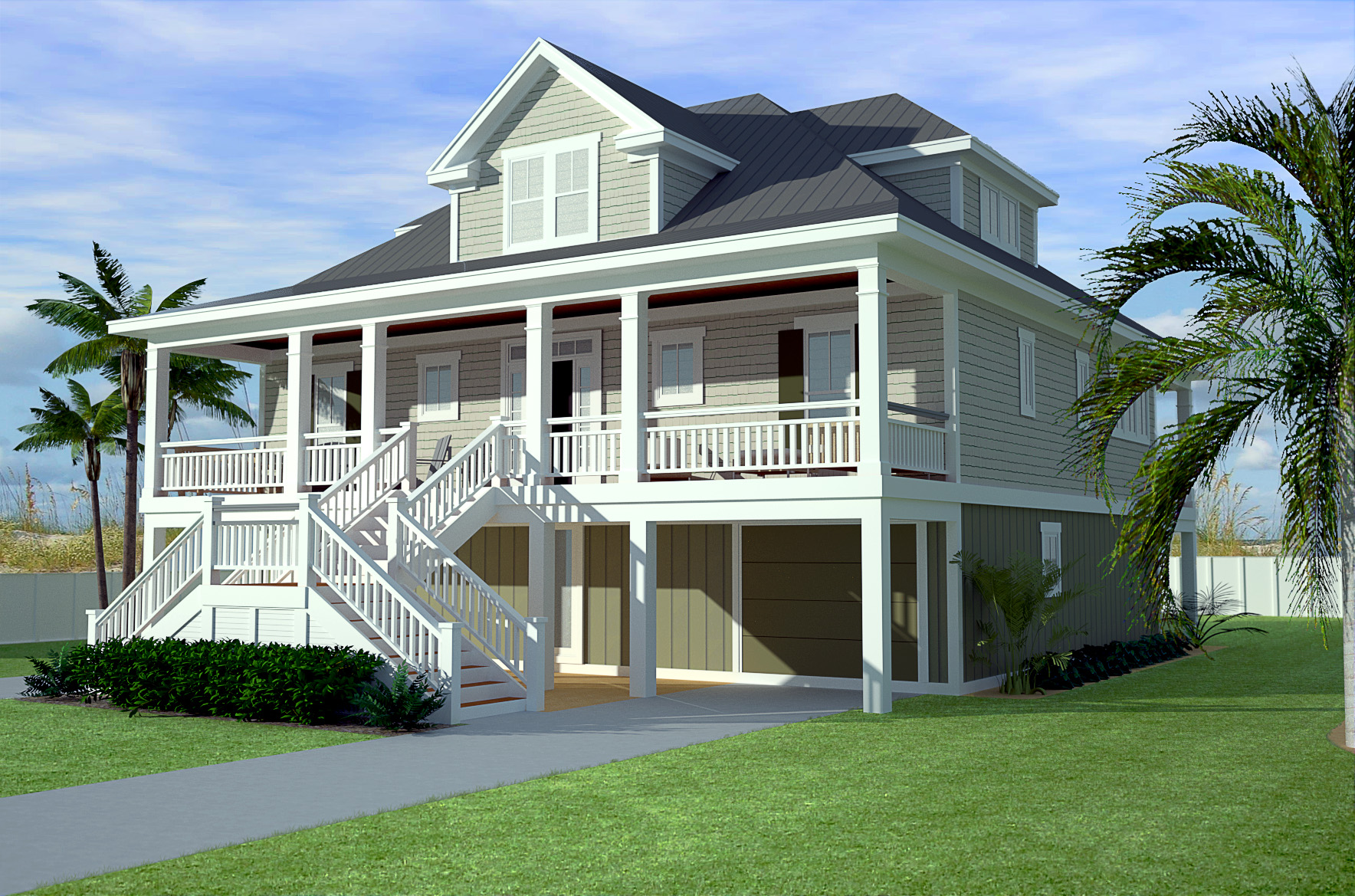 Stylish low country home plan 15062nc 1st floor master for Low country homes