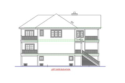Beach cottage with elevator 15086nc architectural for Beach house floor plans with elevator