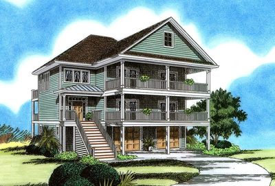 Beach Cottage With Elevator 15086nc Architectural