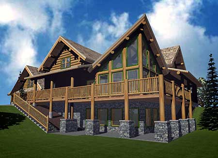 Atypical Log Home Plan 1520du Architectural Designs