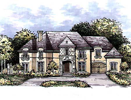 European manor home plan 15309hn 1st floor master for European manor house plans