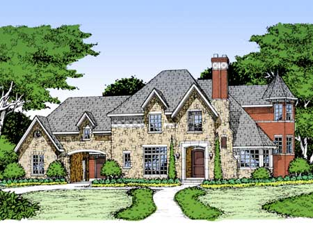 Guest bedroom or in law suite 15367hn architectural for French country house plans with porte cochere