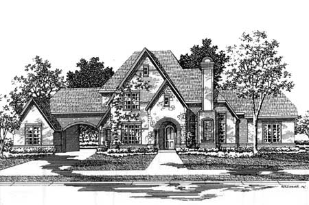 Classic french country estate home 15409hn for Country estate home plans