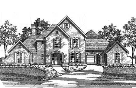 Classic french country estate home 15410hn 1st floor for French country house plans with porte cochere