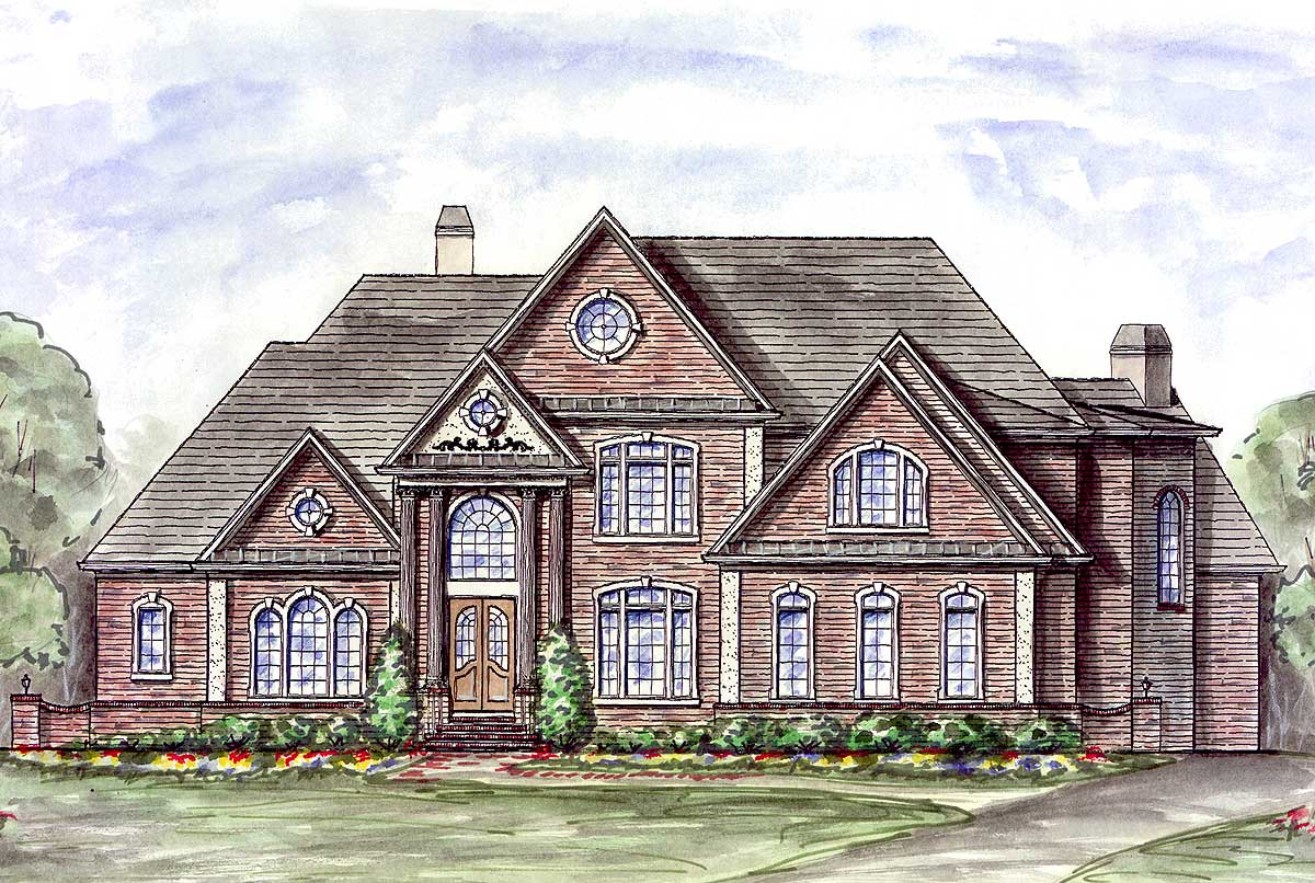 Majestic master down house plan 15603ge 1st floor for House plans first floor master