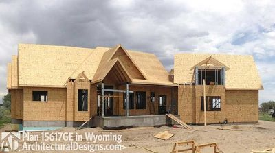 House Plan 15617GE comes to life in Wyoming! - photo 002