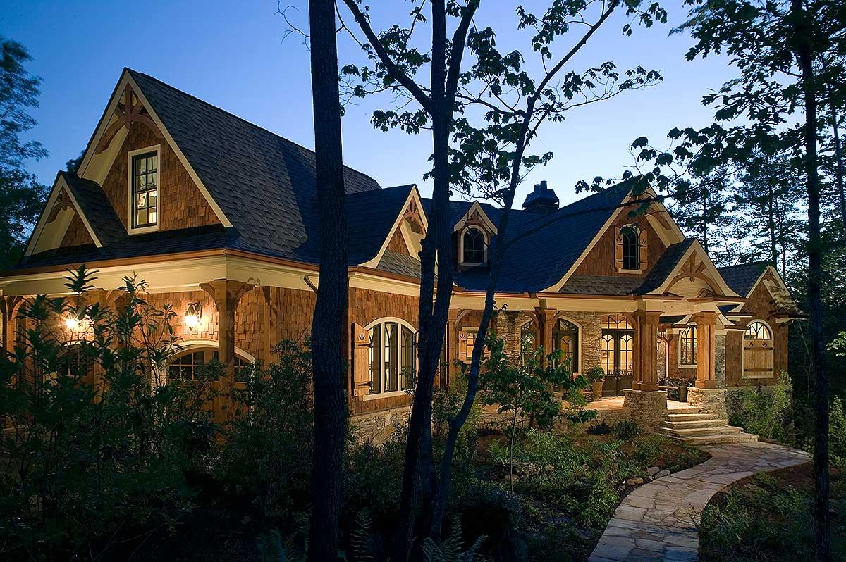 Stunning Rustic Craftsman Home Plan - 15626GE ...