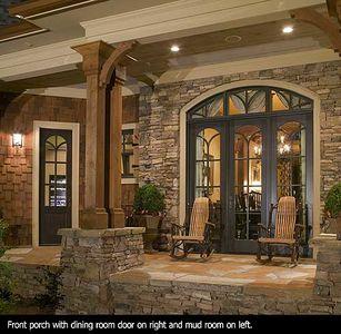 Stunning Rustic Craftsman Home Plan - 15626GE thumb - 04