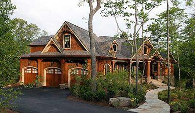 Stunning Rustic Craftsman Home Plan - 15626GE thumb - 02