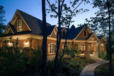 Stunning Rustic Craftsman Home Plan - 15626GE thumb - 01