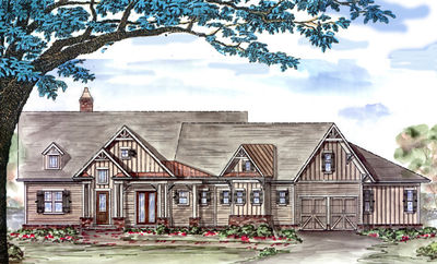 Popular Craftsman Home Plan - 15628GE thumb - 01