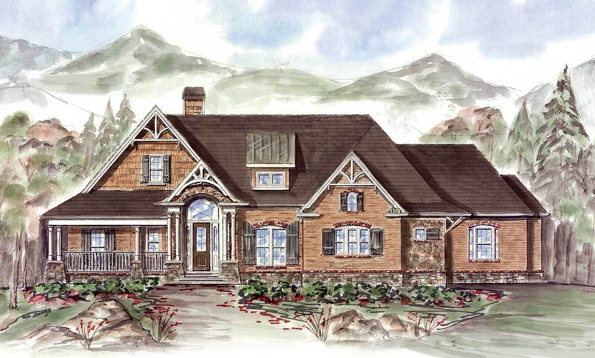 Rustic Ranch 15645ge Architectural Designs House Plans
