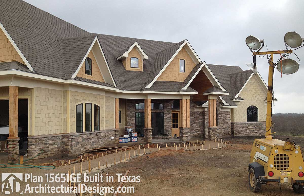House plan 15651ge comes to life in texas for Award winning architectural home designs