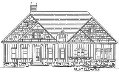 Rustic Lodge Home Plan - 15655GE thumb - 06