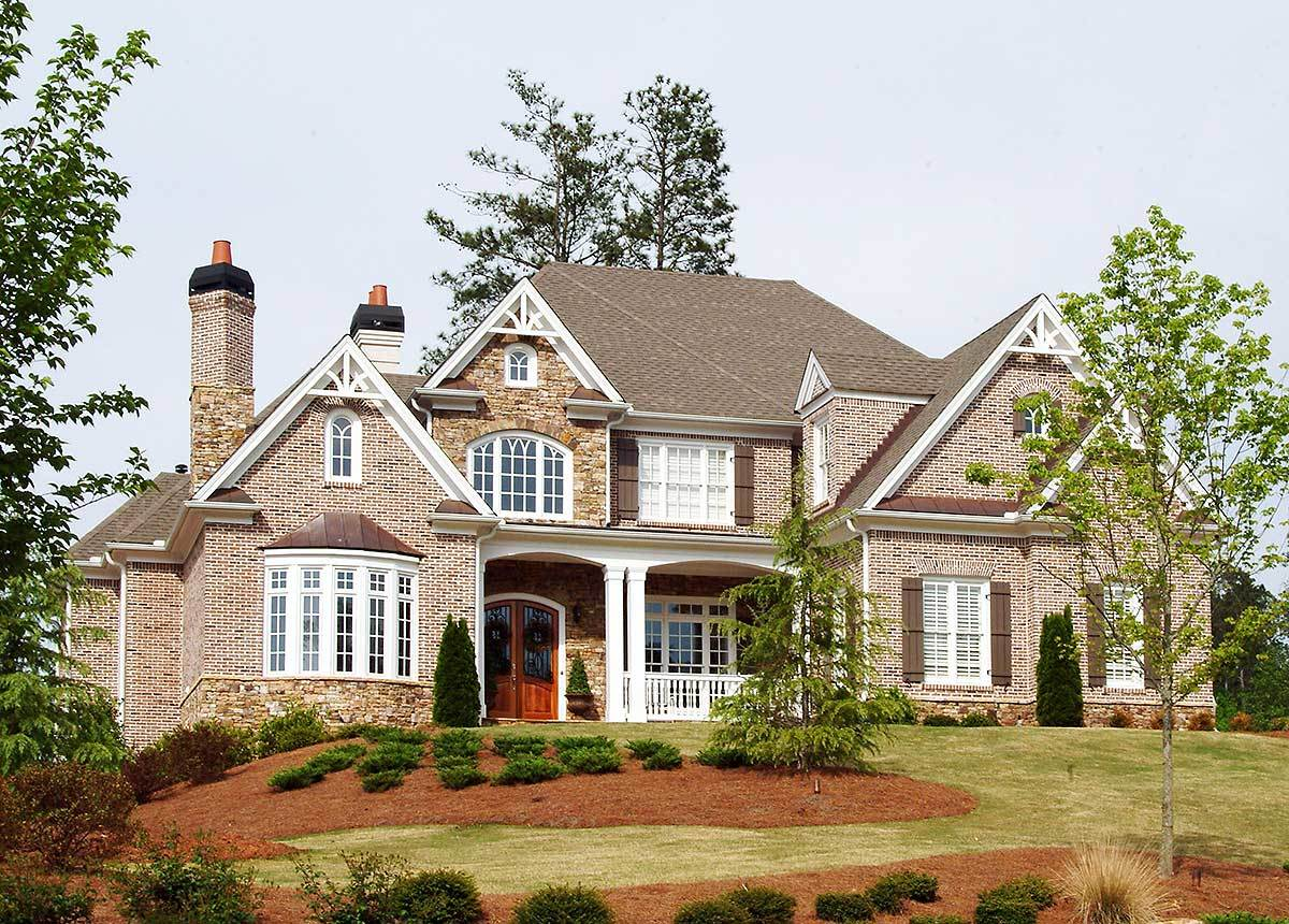 Hip roof french country house plan 15658ge for Large french country house plans