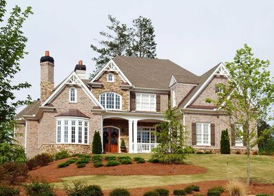 Hip Roof French Country House Plan GE Architectural - French country house