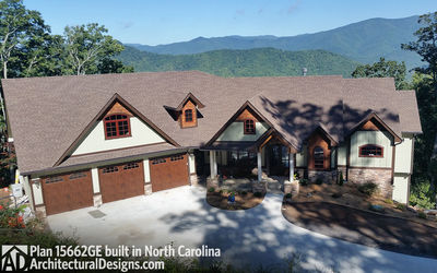 House Plan 15662GE comes to life in North Carolina - photo 001