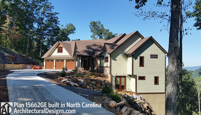 House Plan 15662GE comes to life in North Carolina - photo 002