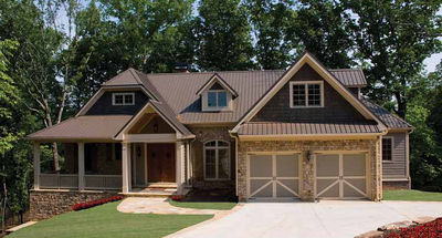 Split Bedroom Craftsman Home Plan - 15667GE thumb - 01