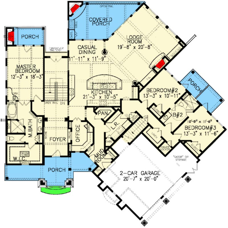 architectural plans for homes rustic lodge home plan 15691ge architectural designs 15691