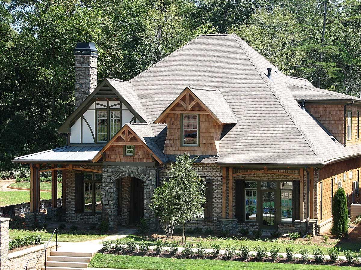 Eye-Catching Cottage - 15693GE | Architectural Designs ...