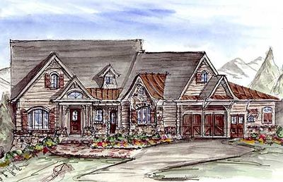 Rustic Lodge Home Plan 15695ge Architectural Designs