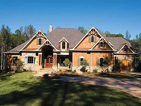 Luxury craftsman retreat 15696ge craftsman mountain for Mountain vacation home plans