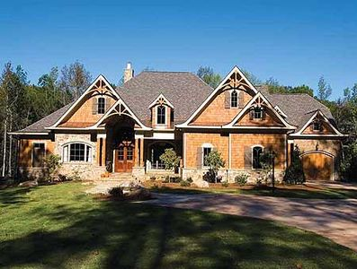 Luxury craftsman retreat 15696ge architectural designs for Large craftsman house plans