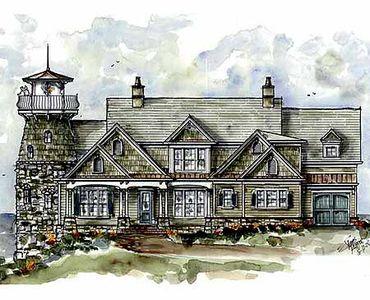 Shingle Style Home Plan with Lighthouse - 15722GE thumb - 02