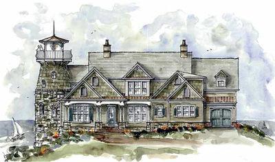 Shingle Style Home Plan with Lighthouse - 15722GE thumb - 01