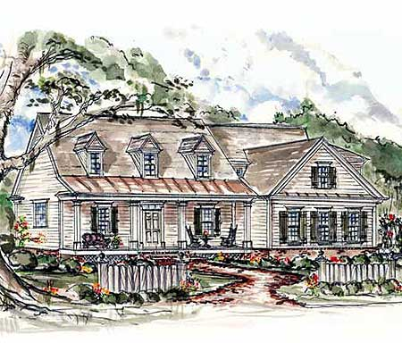 Charming country home plan 15724ge 1st floor master for Country cape cod house plans