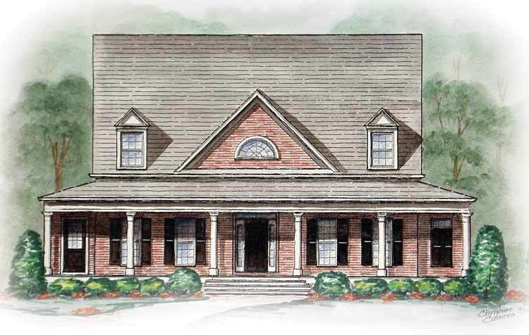 Southern style with wrap around porch 15745ge for Southern style house plans with wrap around porches