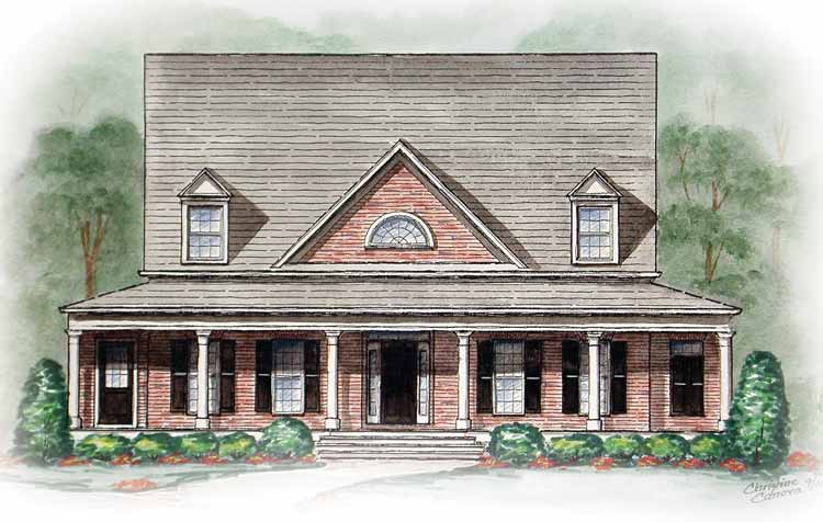 Southern style with wrap around porch 15745ge for Southern style homes with wrap around porch