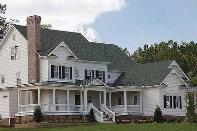 Luxurious Farmhouse Plan - 15754GE thumb - 02