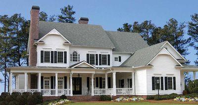 Luxurious Farmhouse Plan - 15754GE thumb - 01