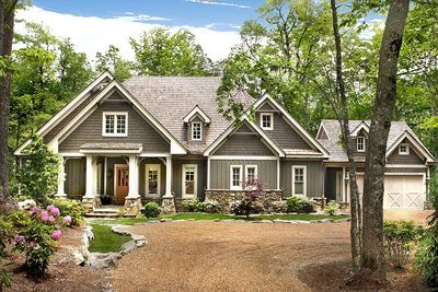 Cozy cottage with dual master suite 15792ge for Cozy cottage home plans