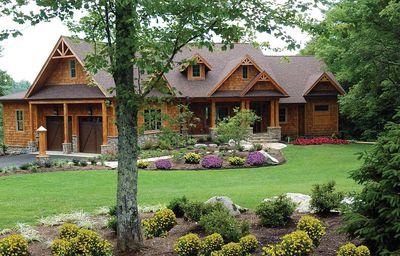 Stunning Mountain Ranch Home Plan - 15793GE thumb - 01