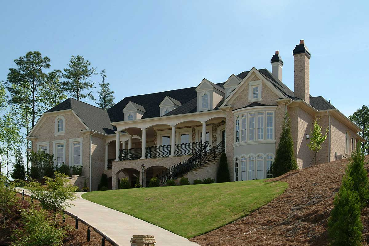 Luxurious manor home plan 15799ge 1st floor master for Manor home plans