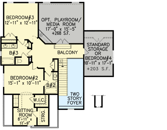 Optional keeping room a plus 15804ge architectural for Keeping room house plans