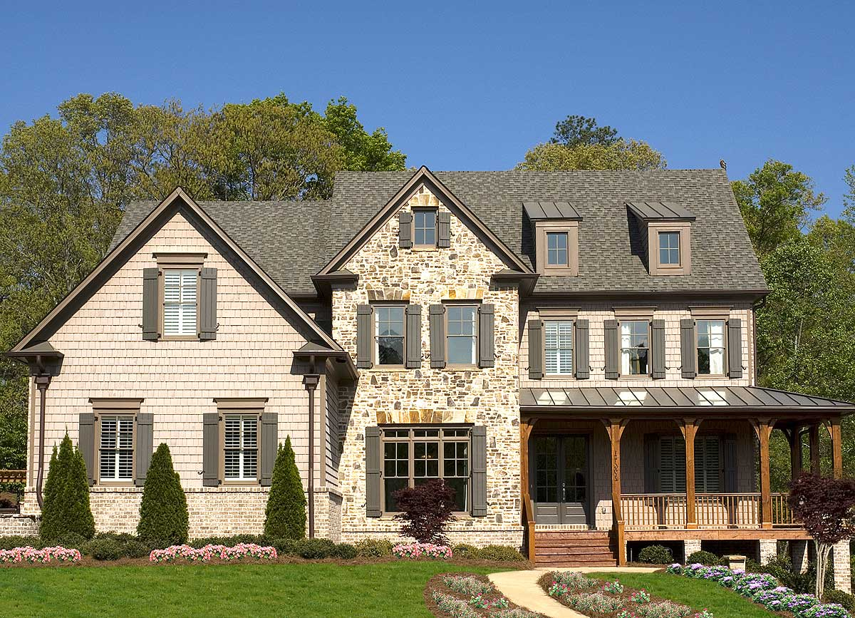 Four or five bedrooms with options 15828ge for Architectural designs com