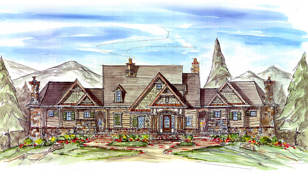 Couples mountain retreat 15880ge architectural designs for How to plan a couples retreat