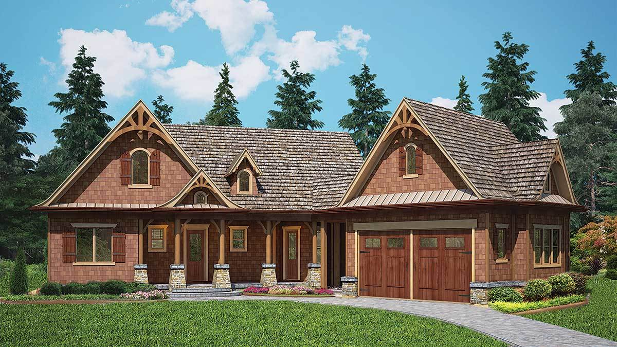Rustic cottage home plan 15882ge architectural designs for Rustic cottage floor plans