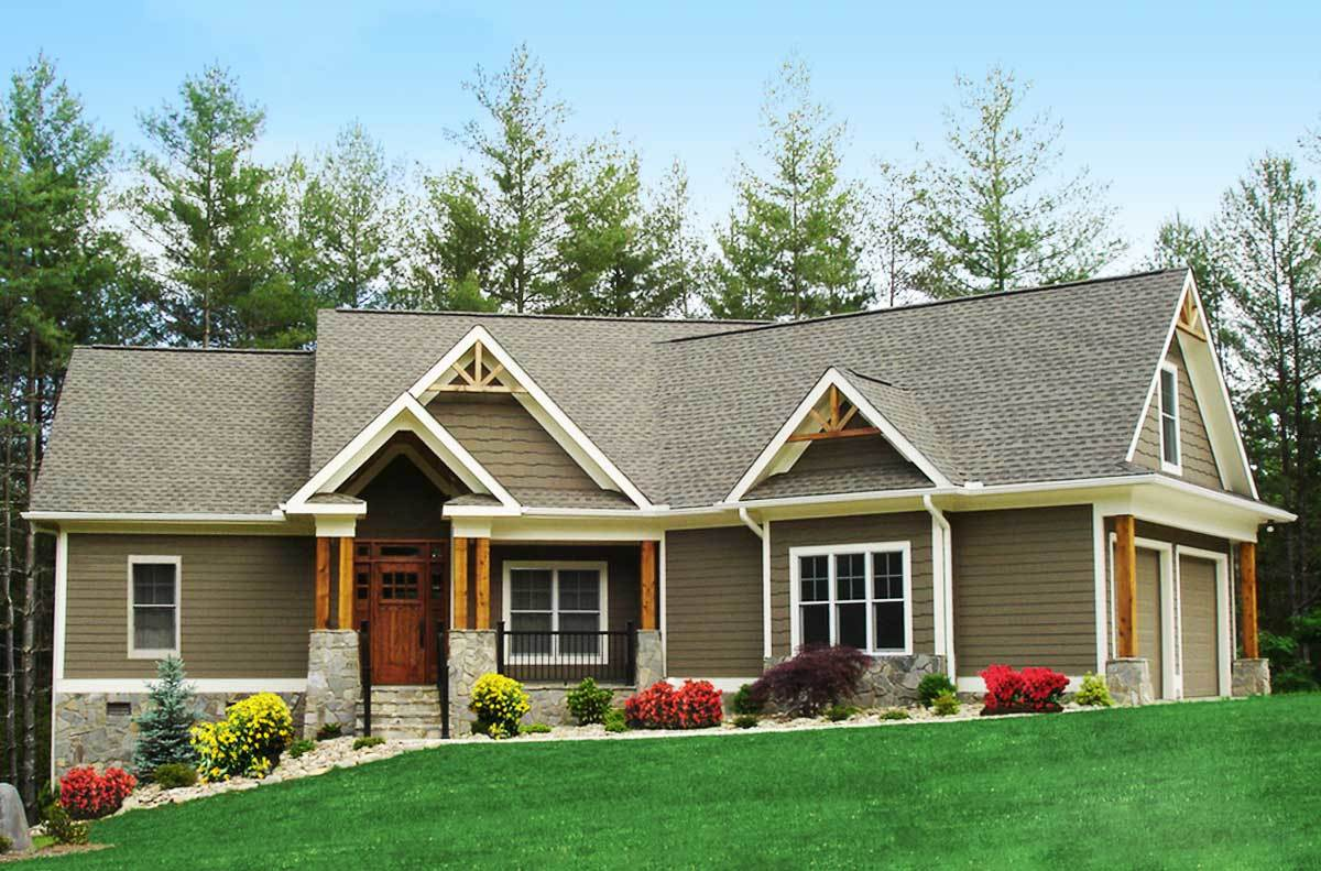 Craftsman inspired ranch home plan 15883ge for Architectural home plans