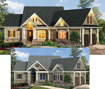 Craftsman-Inspired Ranch Home Plan - 15883GE thumb - 02