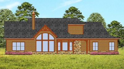 Affordable Gable Roofed Ranch Home Plan - 15885GE thumb - 02