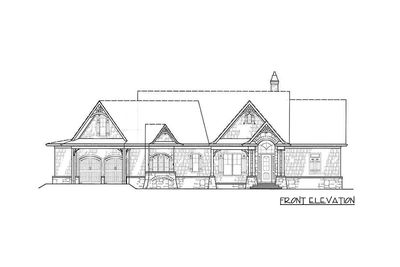 Affordable Gable Roofed Ranch Home Plan - 15885GE thumb - 05